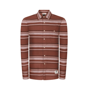 Striped Flannel Hemd Rot - bleed