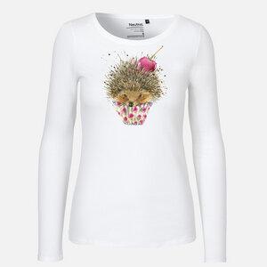 Hot Cupcake Igel - Long Sleeve Shirt - Neutral