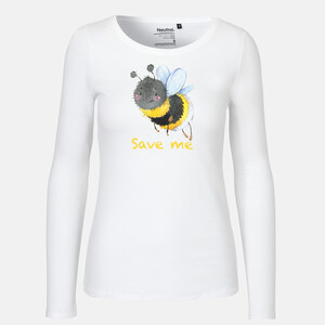 Save me - Biene - Long Sleeve Shirt - Neutral