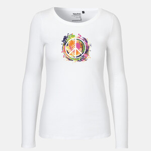 Love - Peace - Long Sleeve Shirt - Neutral