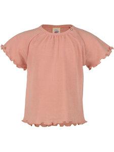 Engel Natur Baby T-Shirt mit Rüschen Bio-Wolle/Seide - Engel natur