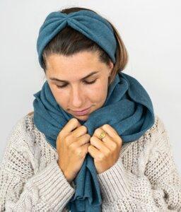 Stirnband Aquamarine aus Bio Baumwolle - vegan - in 3 Varianten - obumi