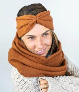 Stirnband Rost aus Bio Baumwolle - vegan - in 3 Varianten - obumi