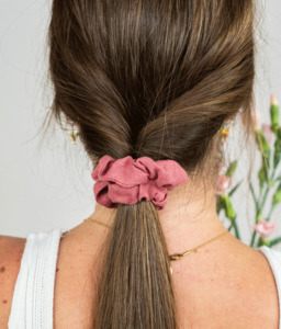 Haargummi - Scrunchie aus Leinen in vielen Farben - obumi