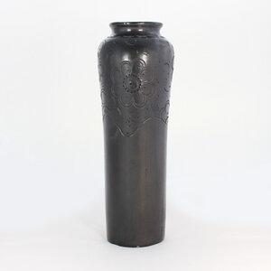 "Schwarze Keramik  Vase ""Puntitos"" - Deko Blumenvase - Mitienda Shop"
