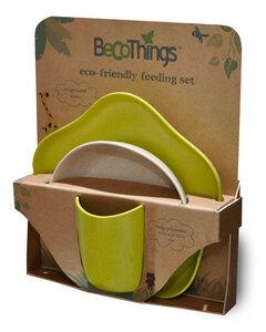 Mahlzeiten Set mit Schale, Teller und Becher von Becothings in grün - BecoThings