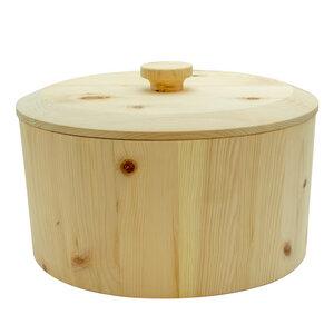 Hochwertiger runder Brotkasten aus massivem Zirbenholz | Handarbeit - 4betterdays