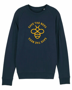 "Herren Sweatshirt aus Bio-Baumwolle ""Save the Bees"" - University of Soul"