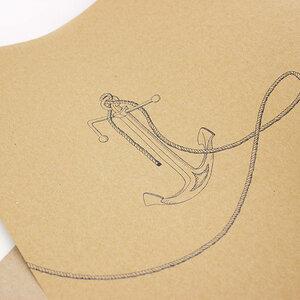 Geschenkpapier Stockanker - Bow & Hummingbird