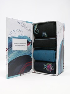 Herren Bambussocken Geschenkbox Sunken 4er Pack - Thought