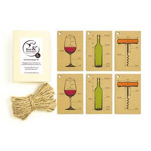 Geschenkanhänger Weinbedarf - Bow & Hummingbird
