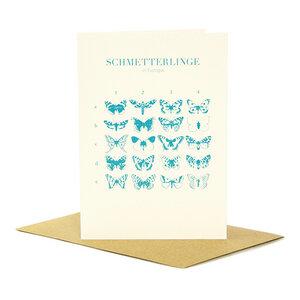 Grußkarte Schmetterlinge in Europa - Bow & Hummingbird