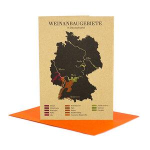 Grußkarte Weinanbau in Deutschland - Bow & Hummingbird