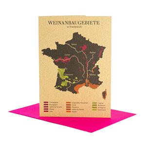 Grußkarte Weinanbau in Frankreich - Bow & Hummingbird