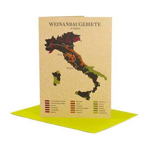 Grußkarte Weinanbau in Italien - Bow & Hummingbird