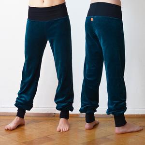 Yoga und Wohlfühlhose für Damen petrol/schwarz  - Cmig
