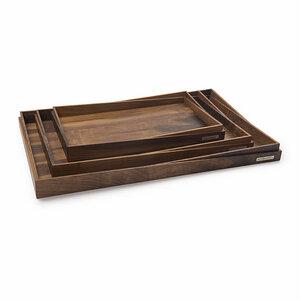 Holztablett NH-R Nussbaum-Holz Naturfarben geölt Auswahl 3 Größen 45x29 / 55x37 / 65x43 cm - NATUREHOME