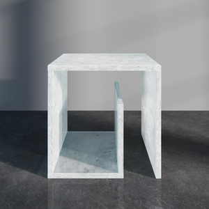 Beistelltisch Nachttisch NUUK - Designtisch aus geschmolzenen Glasscherben - MAGNA Glaskeramik®