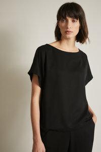 Satin-Shirt aus LENZING ECOVERO  - LANIUS