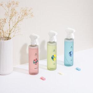 Klaeny Starter Set - 6x Reinigungsmitteltabs + 3x recycelte Design-Flaschen - Klaeny