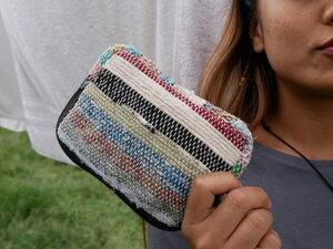 HH Geldbörse / Mini-Täschchen mit Zipper aus Recycle Sari - verschiedene Größen - Himal Hemp