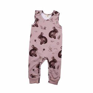 Baby Jumpsuit Strampler *Cute Rabbits* GOTS | Walkiddy - Walkiddy