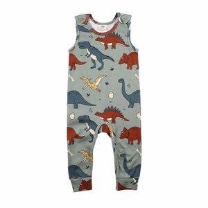 Baby Jumpsuit Strampler *Funny Dinosaurs* GOTS | Walkiddy - Walkiddy