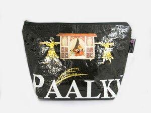 HH Kulturtasche, Aufbewahrungstasche aus recycelten Reissäcken (Toiletry Bag, Kulturbeutel)   - Himal Hemp
