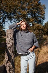 100% Alpaka Wolle (limitierte Edition) – Grobstrick Pullover - ACHIY