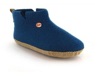 """Barfuß-Hüttenschuhe """"Yeti"""" - kuschlig warme Filz-Boots aus 100% Wolle mit selbstformendem Fußbett - WoolFit"""