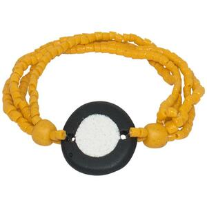 Karma Armband - Full-Circle Upcycling Glasschmuck - Mustard & Teal - Global Mamas - Global Mamas