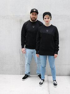 Pullover Fuchs Unisex black VEROIKON  - VEROIKON