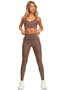 "Shape Effekt Fitness Leggings ""Lanasia"" mit hohem Bund aus recyceltem Nylon - LANASIA"