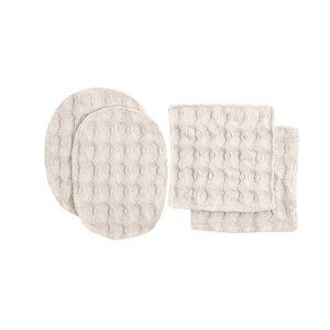 4er Set Make-up Pads aus Bio-Baumwolle, GOTs zert. - The Organic Company