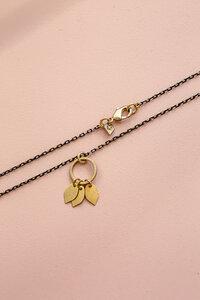 """Kette """"AIANA"""" aus Messing mit Blättern in Gold - ALMA -Faire Streetwear & Schmuck-"""