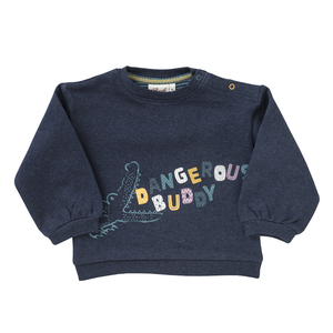 Baby u. Kinder Sweatshirt blau kbA Baumwolle - People Wear Organic