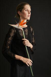 Spitzenbluse aus Bio-Baumwolle - LANIUS