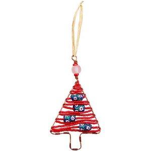 Upcycling Christbaumschmuck  - Weihnachtsbaum -  S/L - Rainbow/Weiß/Rot - Weihnachten - Geschenkdeko - Weihnachtsdeko - Global Mamas