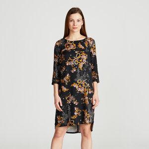 Kleid FREYA mit Flower-Print aus Viskose (ECOVERO) - Givn BERLIN