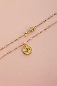 """Kette """"Blue Eye"""" gold aus Messing mit Zirkonia in Blau und Weiß - ALMA -Faire Streetwear & Schmuck-"""