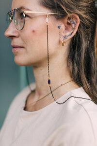 """Brillenkette """"SUNNY"""" aus Messing mit verschiedenen Elementen - ALMA -Faire Streetwear & Schmuck-"""