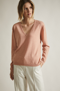 Pullover mit V-Ausschnitt aus Merino und Yakwolle - LANIUS