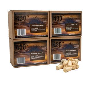 Öko Anzünder für Grill-Party oder Kaminromantik - 6 kg ca. 600 Stück für Kamine, Grill & Ofen - Freundschaftpackung - 4betterdays