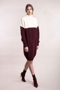 Gestricktes Kleid in Blockfarben - Mila.Vert