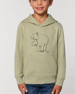 Gemütlicher Hoodie innen flauschig / Rhinozeros - Kultgut