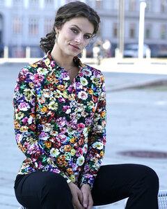 Schönes Jersey Hemd mit Blumenmotiv - LaZoy