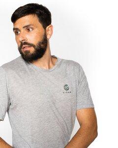 Herren Sport T-Shirt grau meliert aus 100% Lyocell TENCEL® - VIDAR Sport