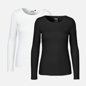 Doppelpack Long Sleeve Shirt - Bio-Baumwolle - Neutral