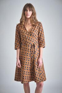 Jasmine Dotty Wrap Dress - bibico