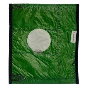 Handgearbeitete Notebook-Tasche / Hülle aus Segeltuch upcycled aus Kitesegeln UNIKAT 12 Zoll - Beachbreak